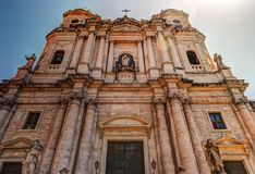 Saint Francis Church in Catania, Sicily Royalty Free Stock Images