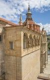 Facade of the Saint Goncalo church in Amarante Stock Photos