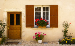 Facade in Saint Jean de Cole France stock photo