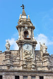 Facade of the Saint John of the Market church in Valencia, Spain. Stock Photos