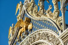 Facade of Saint Mark`s Basilica in Venice Royalty Free Stock Images