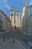 Facade of saint nicolas, in blois Stock Photos