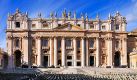 Facade of the Saint Peter, Rome. A picture of the Facade of the Saint Peter basilica in Vatican City, Rome, Italy royalty free stock image
