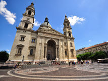 Facade of Saint Stephen basilica in Budapest Stock Photography