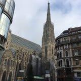 Facade of  Saint Stephen& x27;s Church, Vienna, Austria. Photo taken in 2016 Stock Photo
