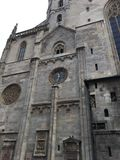 Facade Saint Stephen& x27;s Church, Vienna, Austria. Photo taken in 2016 Stock Image