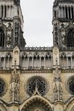 facade of Sainte-Croix Cathedral in Orleans Stock Photo