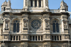 Facade of Sainte Trinite church in Paris. Stock Images