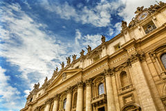 Facade Saints Peter`s Basilica Statues Vatican Rome Italy Royalty Free Stock Photo