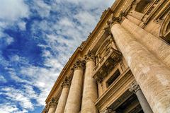 Facade Saints Peter`s Basilica Statues Vatican Rome Italy Royalty Free Stock Images
