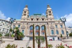 Facade of Salle Garnier in Monte Carlo, Monaco. Royalty Free Stock Image