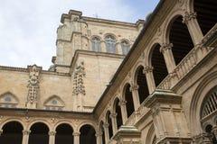 Facade of San Esteban Convent, Salamanca Stock Image
