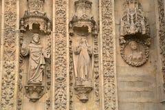 Facade of San Esteban Convent, Salamanca Stock Photography