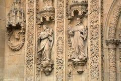 Facade of San Esteban Convent, Salamanca Stock Photo