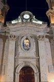 Facade of San Francisco de Asis Church in Chapala Stock Images