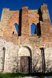 Facade of San Galgano's Abbey Stock Images