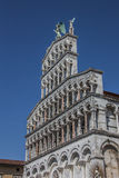 Facade of the San Michele in Foro in Lucca Royalty Free Stock Photography