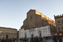 facade of san petronio church Stock Image
