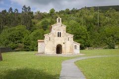 Facade of San Salvador Valdedios monastery Stock Photo