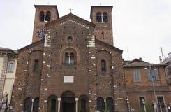 Facade of San Sepolcro church in Milan Royalty Free Stock Image