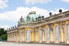 Facade of Sanssouci castle in Potsdam, Germany Royalty Free Stock Image