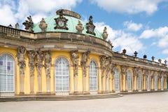 Facade of Sanssouci castle in Potsdam, Germany Stock Image