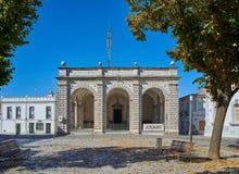 Facade of Santa Casa da Misericordia de Beja. Alentejo. Portugal. Stock Photos