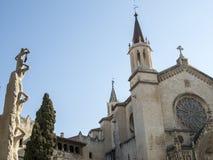 Basilica of Santa Maria in Vilafranca del Penedés, Spain. Facade of the Santa María in Vilafranca del Penedés, Catalonia, Spain royalty free stock images