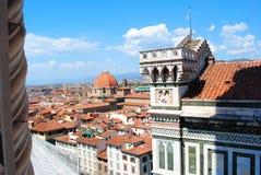Facade of the Santa Maria del Fiore cathedral in Florence stock photos