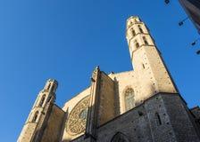 Facade of the Santa Maria del Mar basilica in Barcelona, Catalonia, Spain Stock Photos