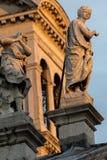 Facade of the Santa Maria della Salute church in Venice Royalty Free Stock Images