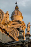 Facade of the Santa Maria della Salute church in Venice Stock Images