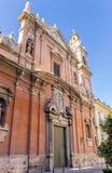 Facade of the Santo Tomas church in Valencia Stock Image