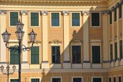 Facade of schoenbrunn palace, vienna Stock Photo