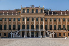 Facade of Schonbrunn Palace in Vienna, Austria Royalty Free Stock Photography