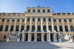 Facade of Schonbrunn Palace in Vienna, Austria Royalty Free Stock Photo