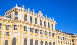 Facade of Schonbrunn Palace in Vienna, Austria Stock Photos
