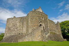 Facade of the scottish castle Royalty Free Stock Image