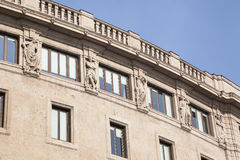 Facade with sculptures Royalty Free Stock Photography