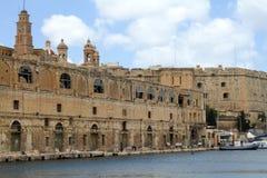 Facade in Senglea. Grand Harbour Area, Malta Stock Photography