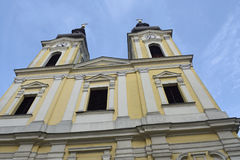 Facade of Serbian Orthodox Church, Timisoara,. Romania royalty free stock photo