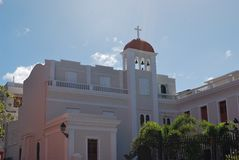 Servants of Mary Church in Old San Juan, Puerto R. Stock Images