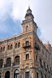 Facade in Seville downtown. Street view of a beautiful facade in Seville, Spain Stock Photos