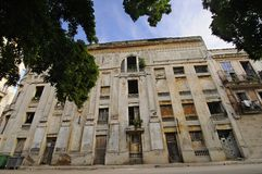 Facade from shabby habana building Stock Photo