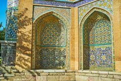 The arched niches of Sepahsalar mosque in Tehran Stock Image