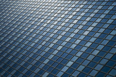 Facade - shapes from a modern building. With structural lines reflection Stock Photo