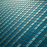 Facade - shapes from a modern building. With structural lines reflection Stock Image