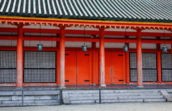 The facade of Shinto shrine in Tokyo, Japan Royalty Free Stock Photo