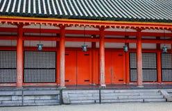 The facade of Shinto shrine in Tokyo, Japan Royalty Free Stock Photo