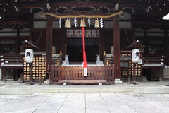 Facade of shinto shrine Royalty Free Stock Images